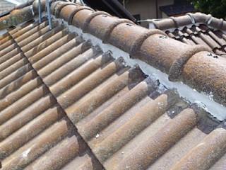 モニエル瓦屋根の雨漏り補修後