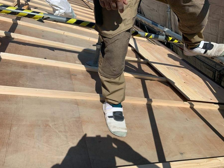 屋根葺き替え工事 垂木