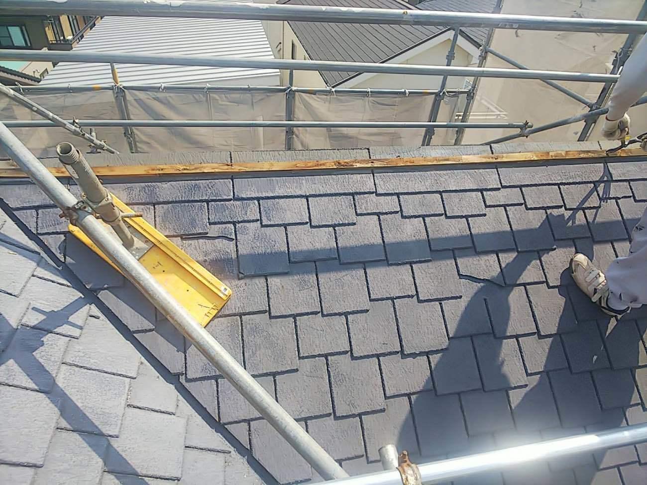 安城市にて屋根の葺き替え工事がスタート!!めくり工事とは?