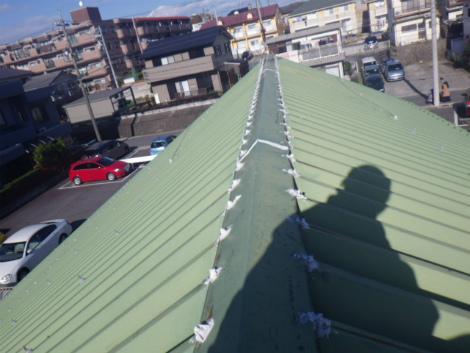 折半屋根雨漏れ