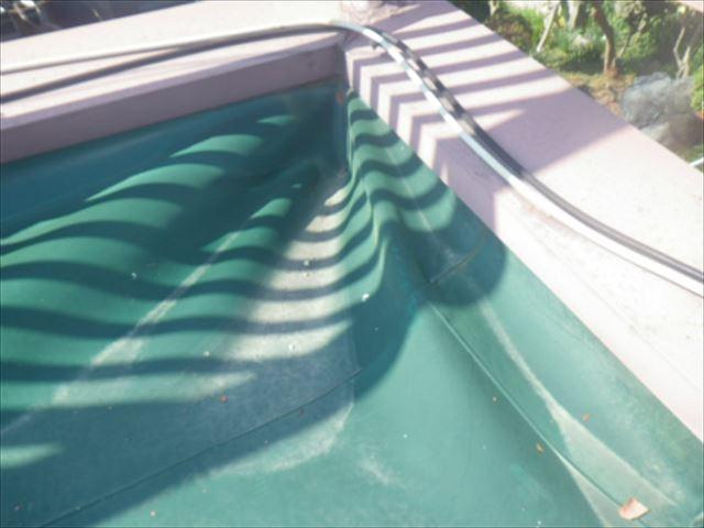 シート防水 破れ 劣化 陸屋根 点検