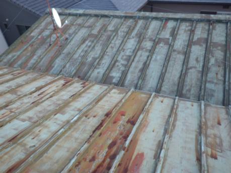 瓦棒屋根劣化