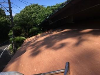 板金工事 玄関屋根 葺き替え