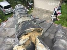 瓦屋根 屋根点検 割れ 漆喰 剥離 劣化