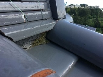 瓦屋根 点検 漆喰 剥離