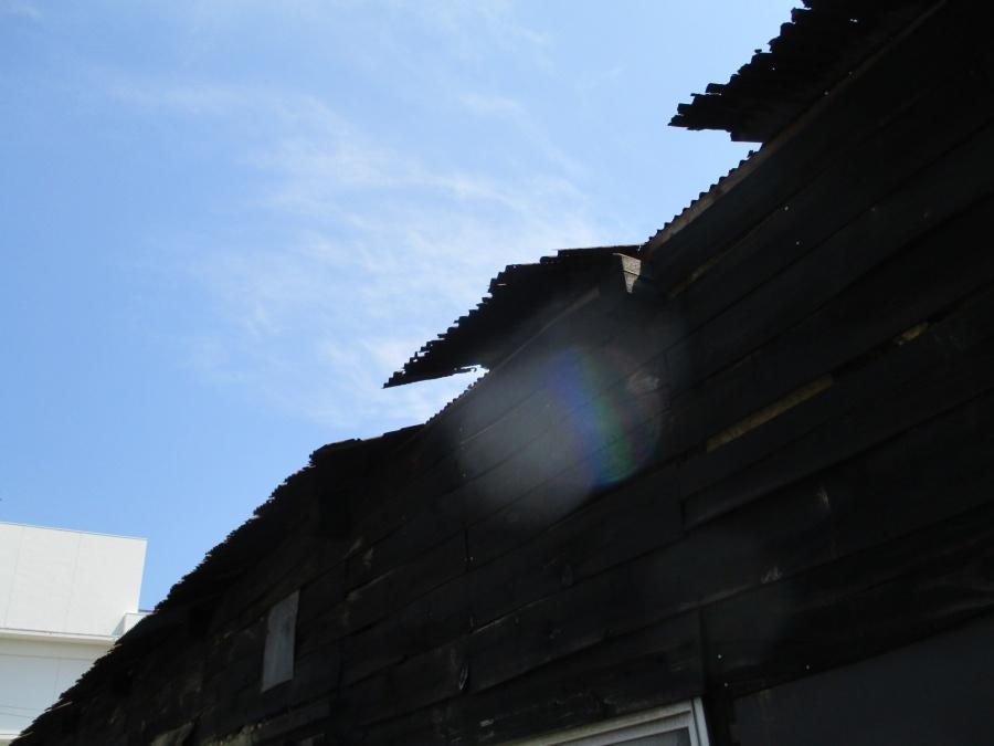 トタン屋根補修前