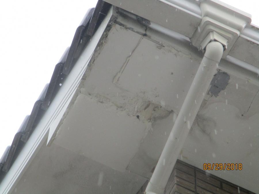 軒天水漏れ