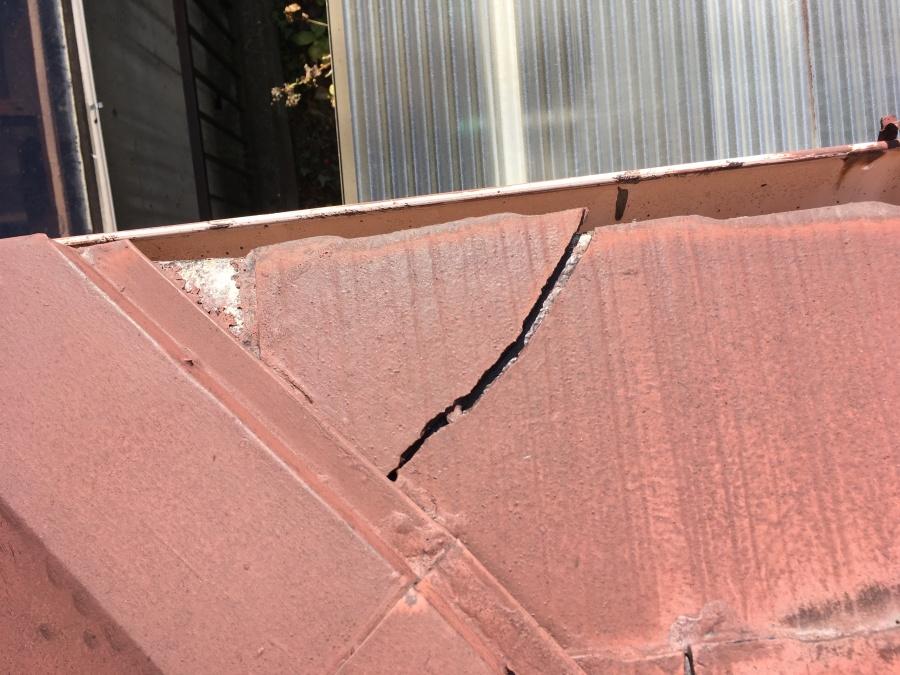 屋根塗装 割れ 褪色 点検