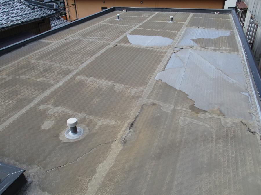 陸屋根防水不具合
