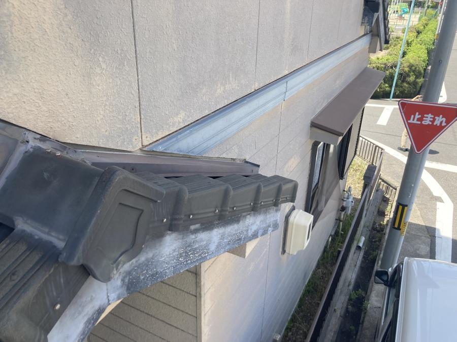 外壁塗装 胴差し 雨押え板金
