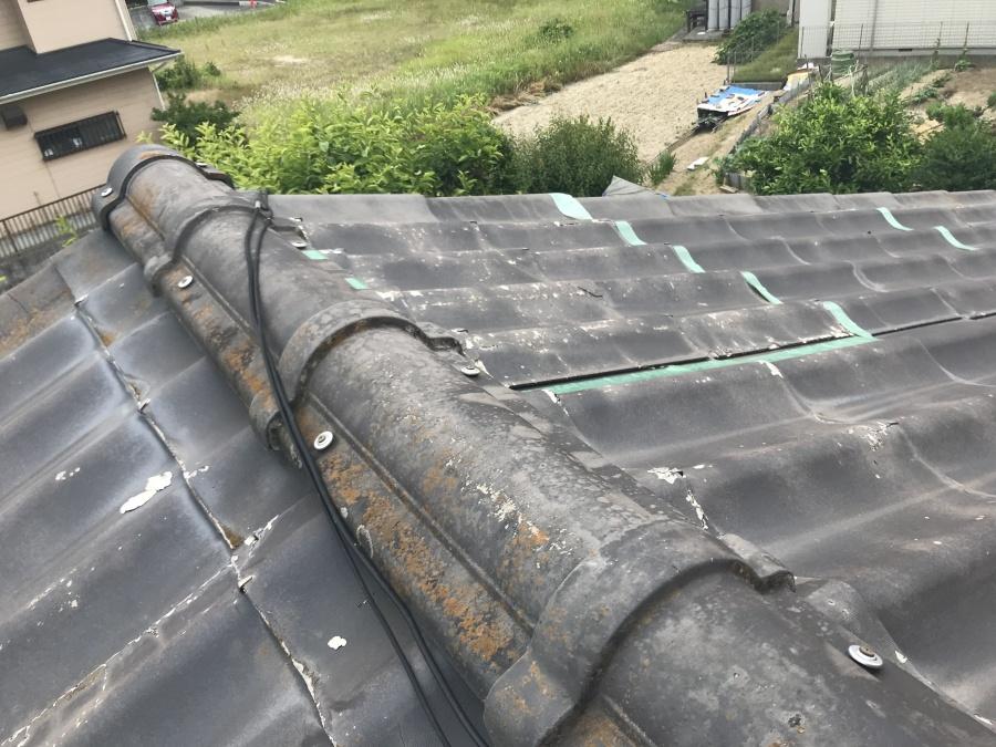 豊田市で劣化してしまったかわらU を立平葺きで修理