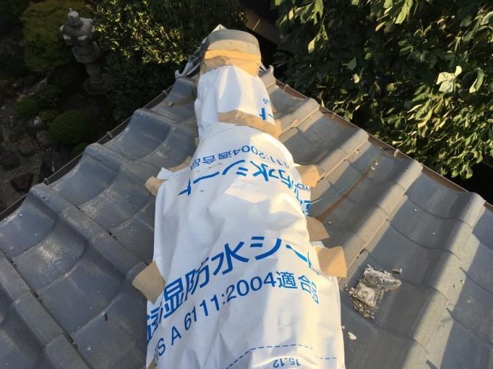 台風被害 瓦の割れ・ズレ