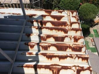 折半屋根 サビ 褪色 塗装 見積り