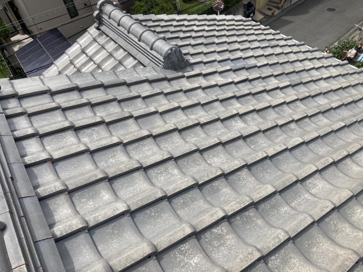 屋根の北面