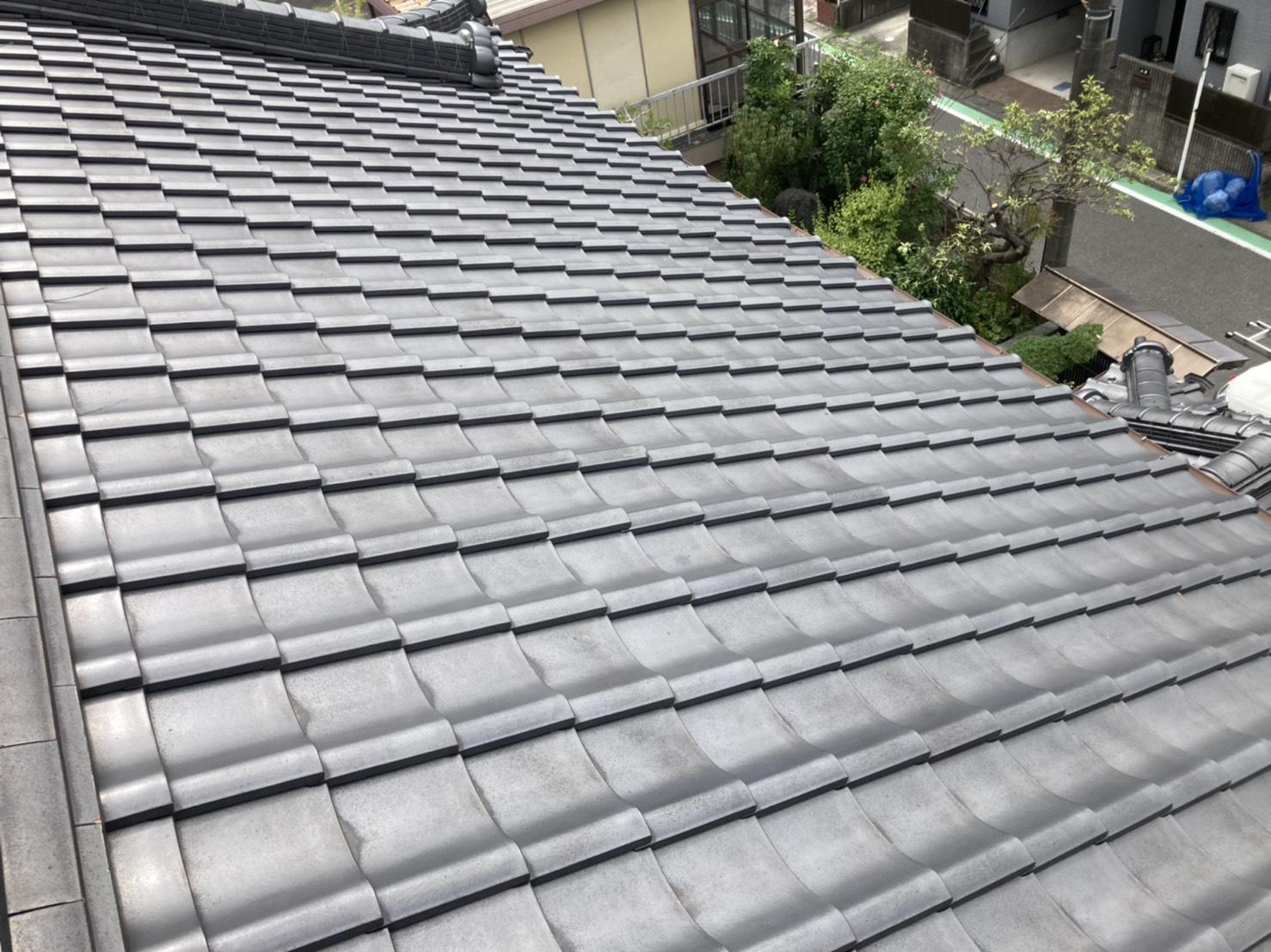 安城市にて瓦屋根の経年劣化が心配な屋根の点検を実施!!!
