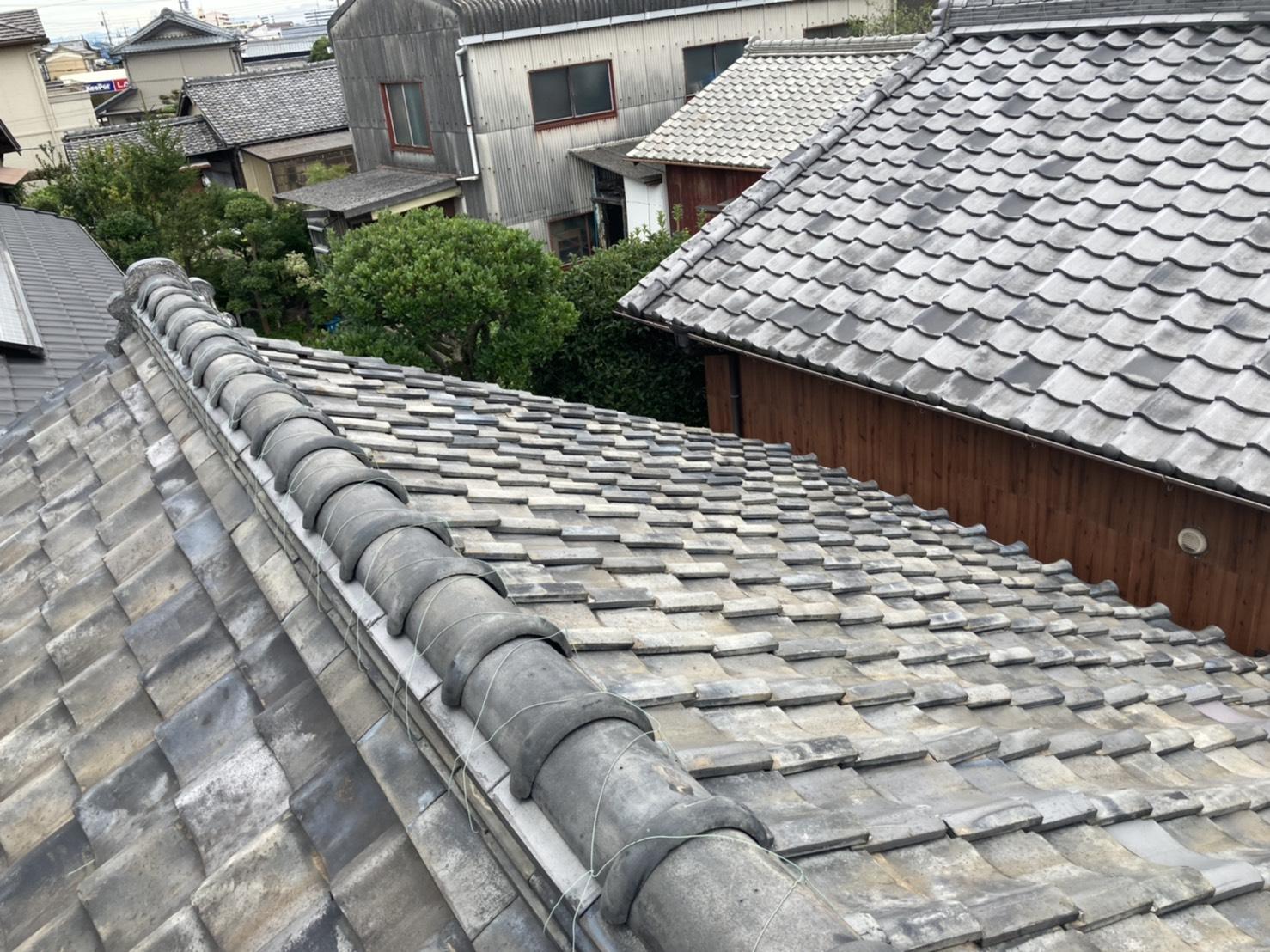 刈谷市で瓦屋根の点検!