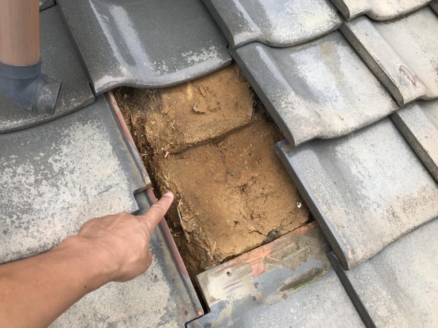 瓦撤去雨漏り