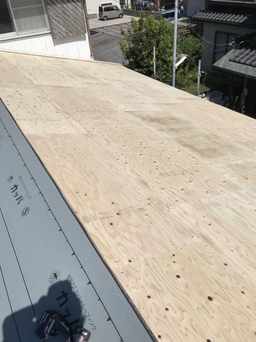 豊田市でガルバリウム鋼板を使用し重ね葺き工事(カバー工法)