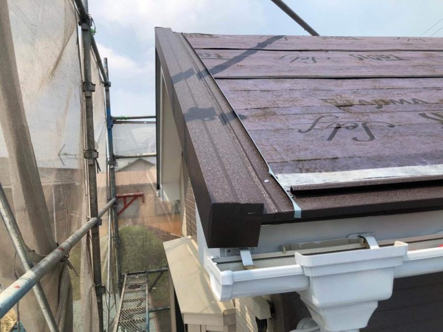 屋根カバー工事 ケラバ水切り